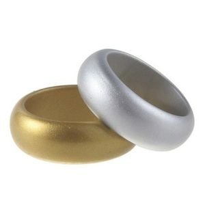 Silver and Gold color silicone bands